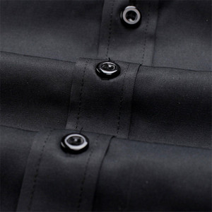 Image 5 - VISADA JAUNA europejski rozmiar nowy 2018 koszula męska męska koszula z długimi rękawami bawełna wymieniony patchworkowy w stylu Casual Slim Fit koszula biurowa