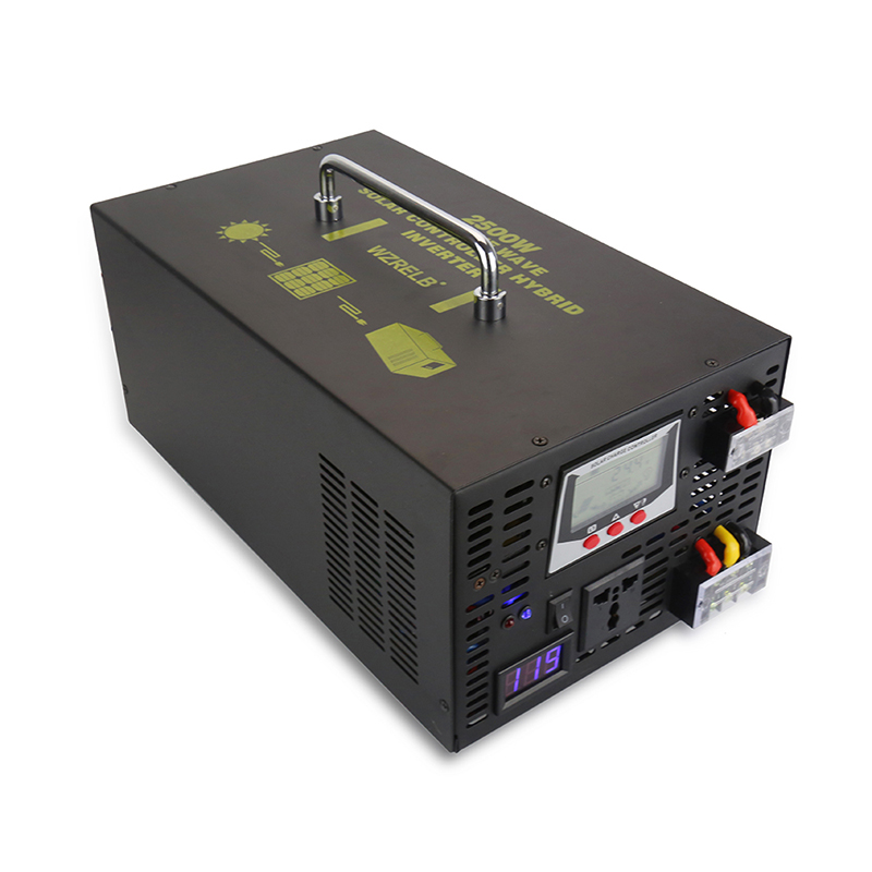 2500W Pure Sine Wave Solar Inverter 24V AC/DC to 220V AC Converter LCD Hybrid Inverter 24V/48V to 120V/230V/240V 30A Controller