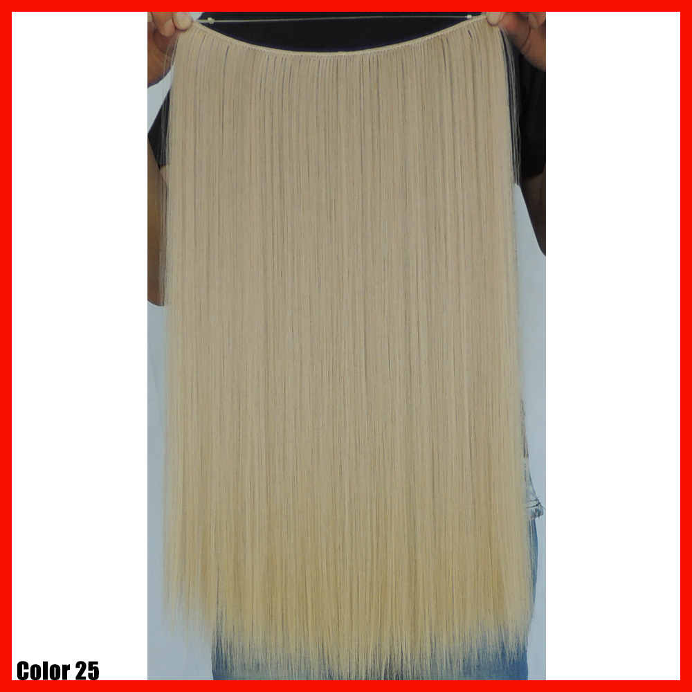 20 Inch Noble Gold Hair Extensions Synthetic Straight Weave Flip In