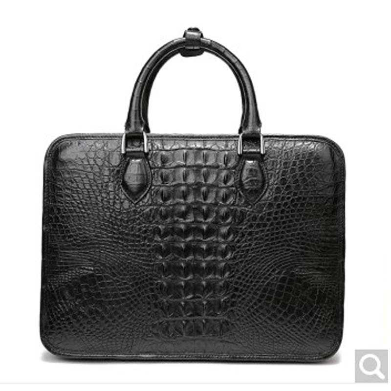 feikebeike 2018 new Thai real crocodile leather men's handbag business briefcase all hand-made authentic all things made new