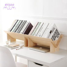 Solid wood assembly bookshelf table floor small bookcase student desktop storage shelves simple small bookshelves