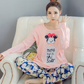 Big Size XXXL Cotton Maternity Sleepwear Pregnant Women Pajamas Nursing Breast Feeding Nightgown Clothes Cartoon Home Service