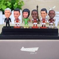 ARS FC 6PCS Display Box Soccer Player Star Figurine 2 5 Action Dolls