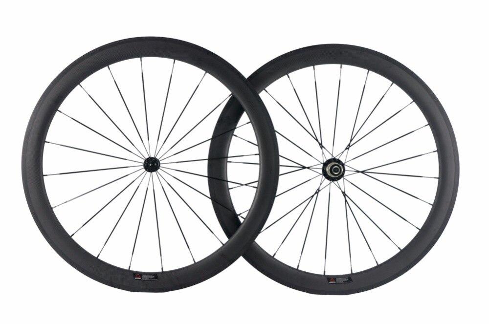 Roues en Fiber de carbone pour vélo de route 50mm roues en Fiber de carbone 3 K roues de vélo mates avec powerway R13