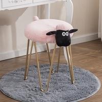Free shipping U BEST Creative iron makeup stool,Nordic designer furniture, dressing stool and manicure stool
