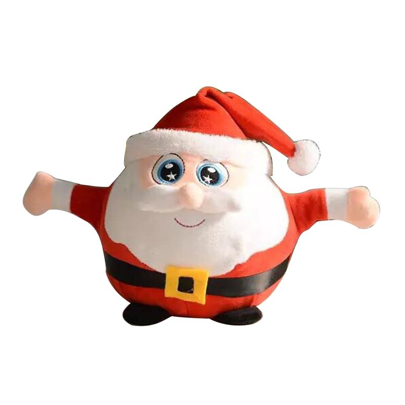 Cute Novelty Light Up Plush Santa Claus Toy Singing Decorative Stuffed Toy Christmas Gift for Decoration