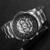 Esqueleto vencedor Relógio Mecânico Dos Homens de Luxo Preto Relógios Esportivos Da Marca de Moda Casual Militar À Prova D' Água Relogios Masculino