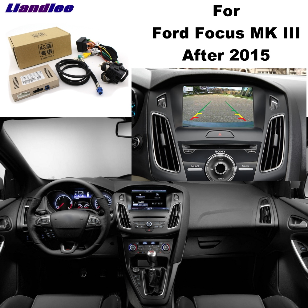 Liandlee Parking Camera Interface Reverse Back Up Park Camera Kits For Ford Focus MK 3 2015~2018 Original Display Upgraded