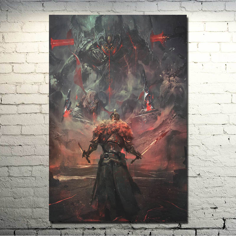 PC GAME POSTER DEVIL HUNTER DARK SOULS DECORATIVE PAINTINGS CAN BE CUSTOMIZED