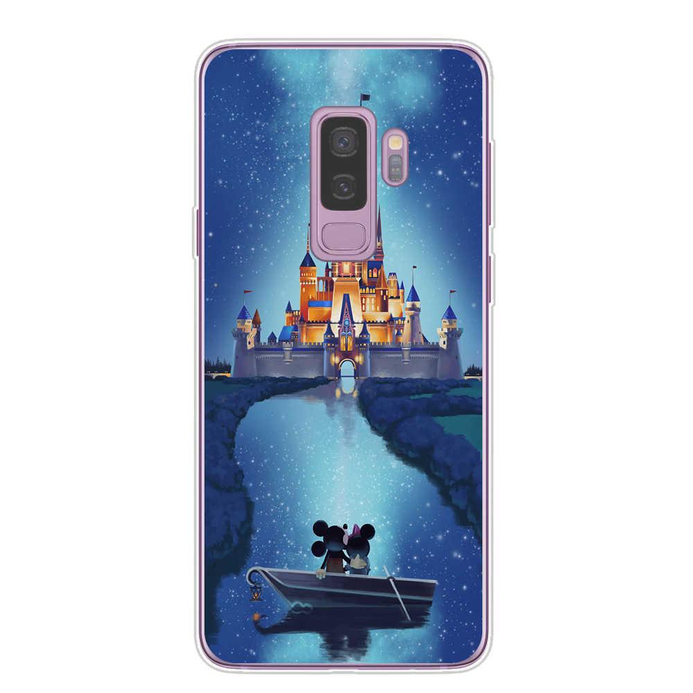 Thế Giới Lọ Lem Lâu Đài Pháo Hoa Mềm TPU Dẻo Silicone Ốp Lưng Điện Thoại Dành Cho Samsung Galaxy S6 S7 Edge S10 Lite S8 S9 plus Note 8 9