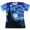 Classic Oil Painting Men's Clothing 3D Printed T-shirts Vincent Van Gogh Starry Night Vintage Men Tops Tees Personality T Shirt