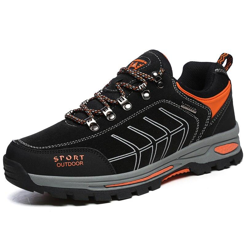 Tênis para caminhada Homens Preto Azul Tênis de Trekking Montanha Anti-Slip Caminhadas Ao Ar Livre Sapatos Homem Tamanho 39-45 Rastreamento sapatas do esporte