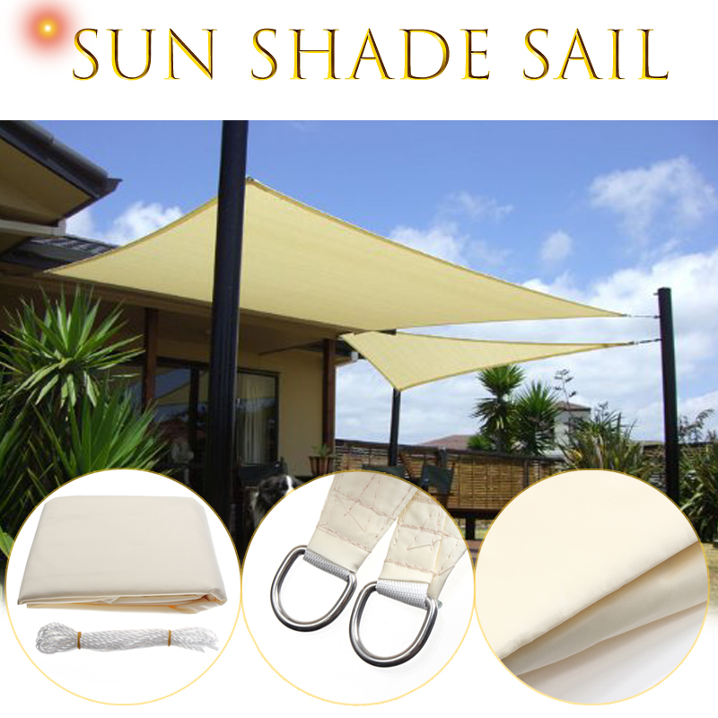 Us 46 79 22 Off 3 5x3 5m Square Sun Shade Sail Canopy Patio Garden Awning Uv Block Top Shelter Beige Outdoor Waterproof Car Cover In Awnings