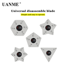 UANME 5 Style  Ultra Thin Flexible Stainless Steel Pry Spudger Disassemble Card for iPhone iPad Samsung Mobile Phone Repair Tool