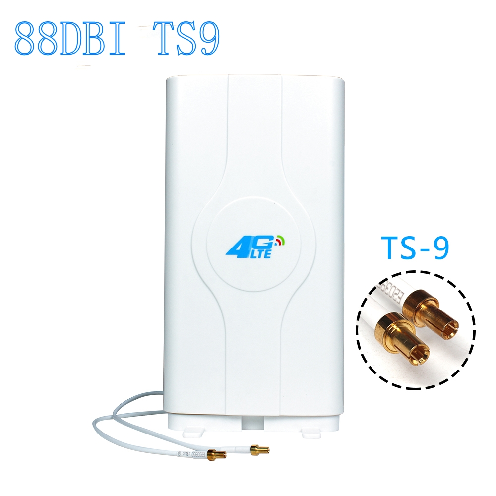 LF ANT4G01 Indoor 88dBi 4G LTE MIMO Antenna with 2 PCS 2m Connector Wire TS 9 Port For HUAWEI E8372h e5577 e5573