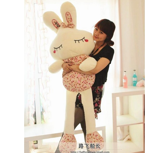 75cm-large-Plush Toys Bunny Dolls Stuffed Animals Rabbit Soft Toy with Gift Box, High Quality Gifts for Kids free shipping