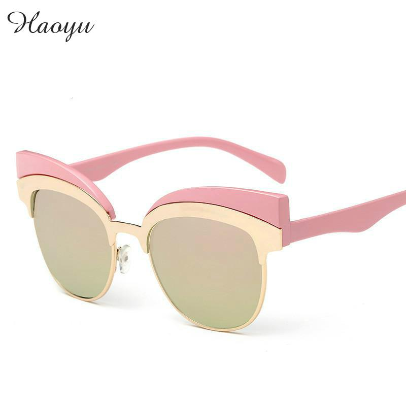 haoyu cat eye ear women sunglasses vintage fashion frame glasses female  brand full frame sun glasses oculos de sol Free shiping 190879916f