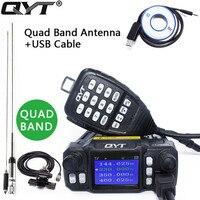 QYT KT 7900D Quad Band 136 174MHz 220 260MHz 350 390MHz 400 480MHZ 25W Mobile Radio