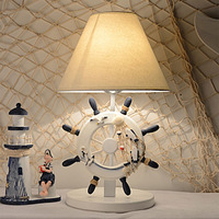 Mediterranean Table Lamp Creative Fashion Wedding Simple Led Lamp Children's Room Lamps Bedroom Bedside Lamp Table