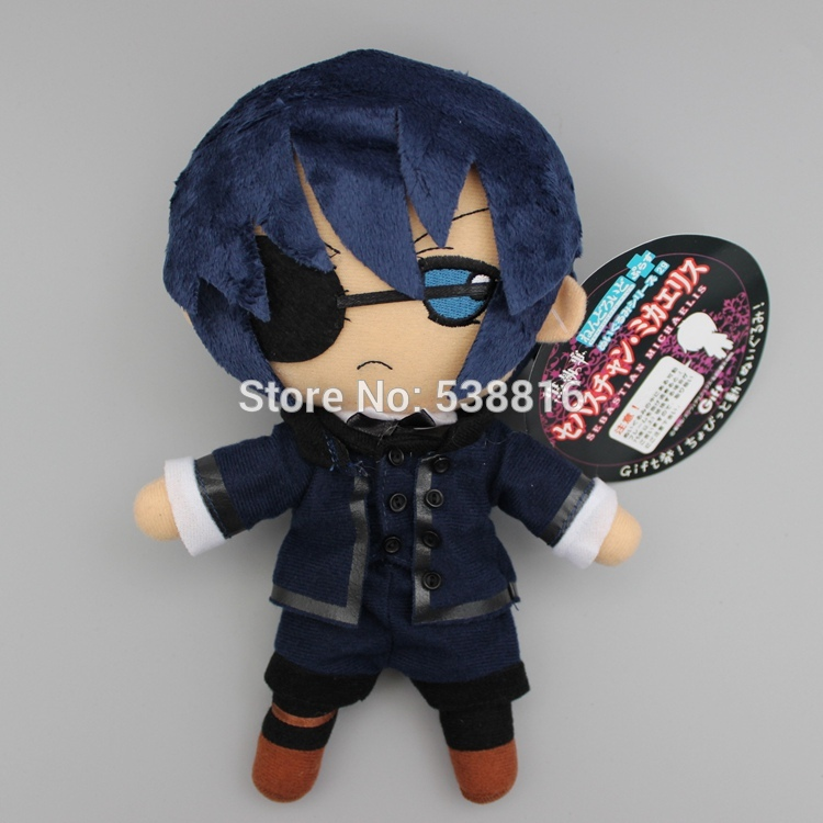 Anime Black Butler Kuroshitsuji Ciel Phantomhive Cosplay Soft Plush Toy Doll 1026 CM black butler kuroshitsuji grell sutcliff cosplay wigs long red synthetic hair women girl anime party wig red glasses chain