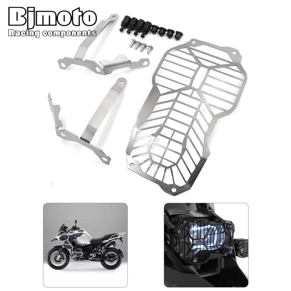 HGC-BM002 Motorcycle Headlight Grill Guard Cover Protector For  BMW R1200GS Water Cooled models 13-16 R1200GS Adventure motorcycle radiator grill grille guard screen cover protector tank water black for bmw f800r 2009 2010 2011 2012 2013 2014