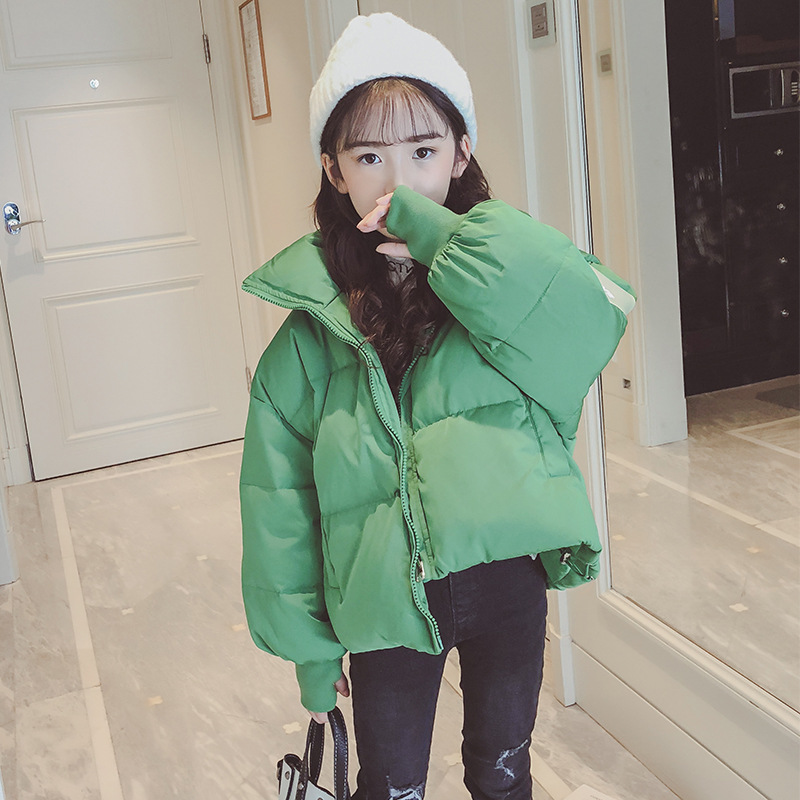 Girls 4-12 Years Winter Hoodless Short Cotton Jacket Armband Thick Warm Solid Color Casual Fashion Outerwear Coat JacketGirls 4-12 Years Winter Hoodless Short Cotton Jacket Armband Thick Warm Solid Color Casual Fashion Outerwear Coat Jacket