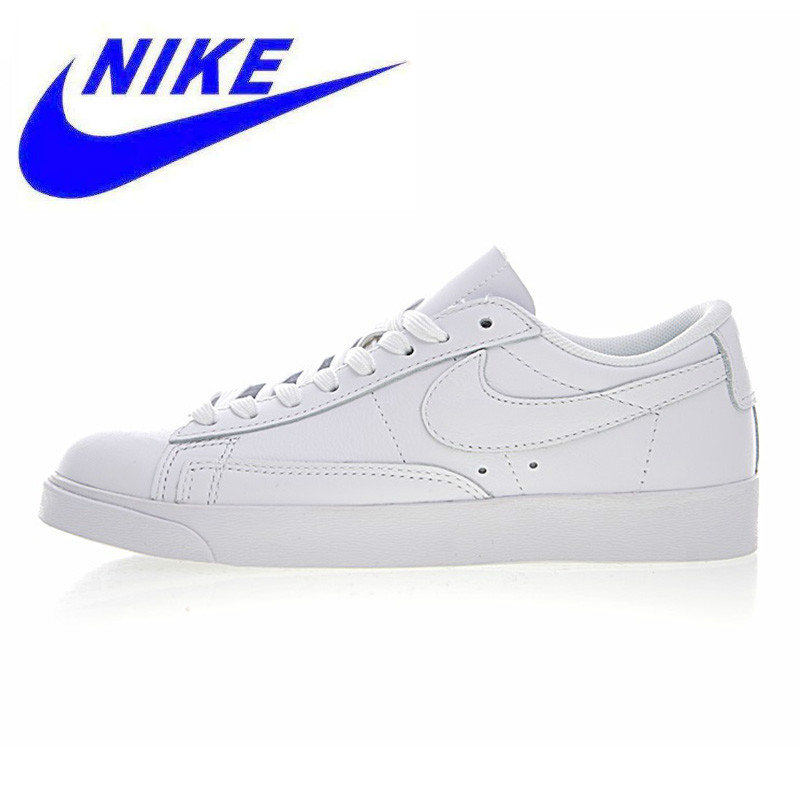 online store 9f9fb 9e303 US $96.39 49% OFF|Original NIKE BLAZER LOW LE Men and Women Skateboarding  Shoes, White, Wear resistant Breathable Non slip AA3961 104-in  Skateboarding ...