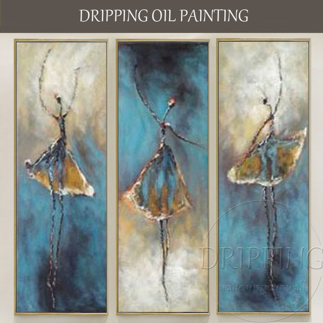 US $91 29 49% OFF|Top Artist Hand painted High Quality Ballerina Oil  Painting on Canvas Modern Abstract Ballet Dancer Oil Painting for Living  Room-in