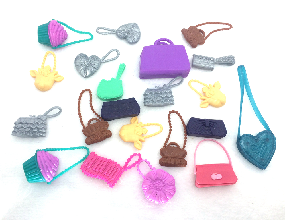 NK 3pcs /Lot  Randomly Cute Original BagsFor Barbie Dolls Accessories Mix Bag Shaped Kids Toys Lovely Kids Gift Parts for Doll