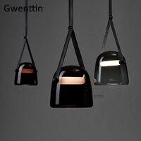 Современные Моны стеклянные подвесные светильники Светодиодная лента подвесной светильник для гостиной спальни Кухонные светильники под