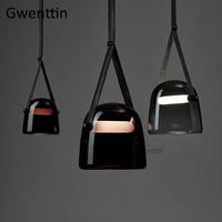 Modern Mona Glass Pendant Lights Led Belt Hanging Lamp for Living Room Bedroom Kitchen Fixtures Suspension Luminaire Home Decor