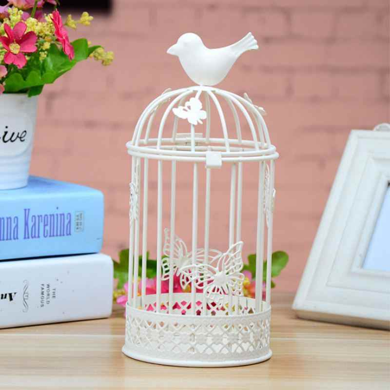 Wholesale Home Decor Iron Candle Holders Bird Cages Candlesticks Decorative For Home Decoration Festival T30