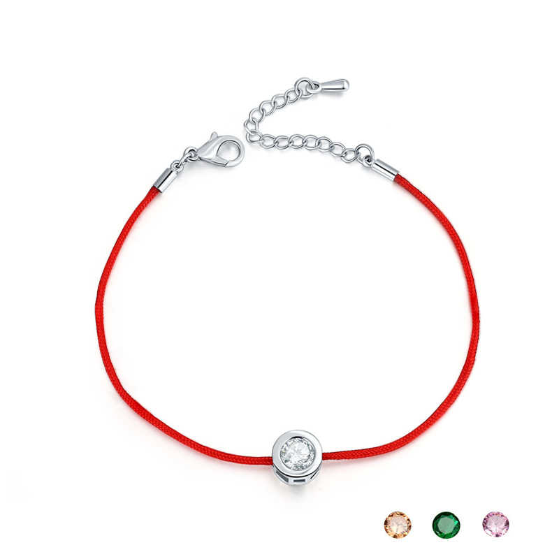 10 Màu Sắc Dây Đỏ Vòng Tay Tròn 6 Mm Cubic Zircon Charm Cho Vòng Tay & Lắc Tay Nữ DỰ TIỆC CƯỚI món Quà Trang Sức
