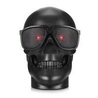 2017 Halloween Skull Stereo Bluetooth Speaker NFC Subwoofer Super Heavy Bass Portable Speakers Support TF Card
