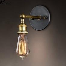 Konesky Vintage Loft Verstelbare Industriële Metalen Wandlamp Retro Messing Moderne wandlamp Land Stijl Blaker Lamp Armaturen