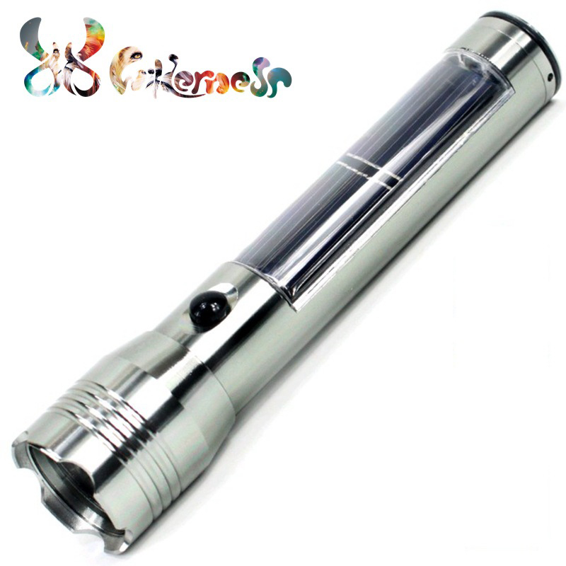Solar LED light long-range rechargeable flashlight 3W high power aluminum alloy multifunction Lantern Waterproof Flashlight