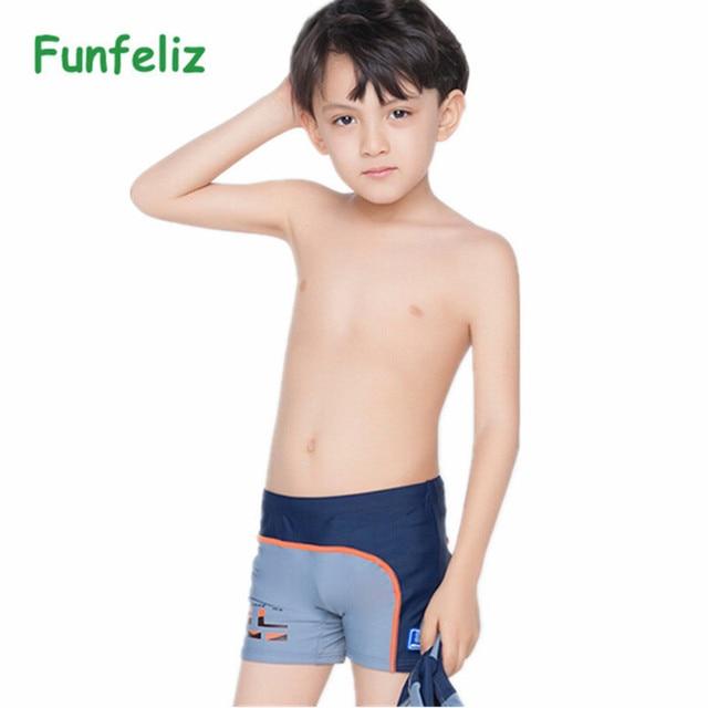 bfc7e03b32798 Children's swimming trunks with swimming cap boys swimwear kids 6T-14T swimsuit  boy bathing suits