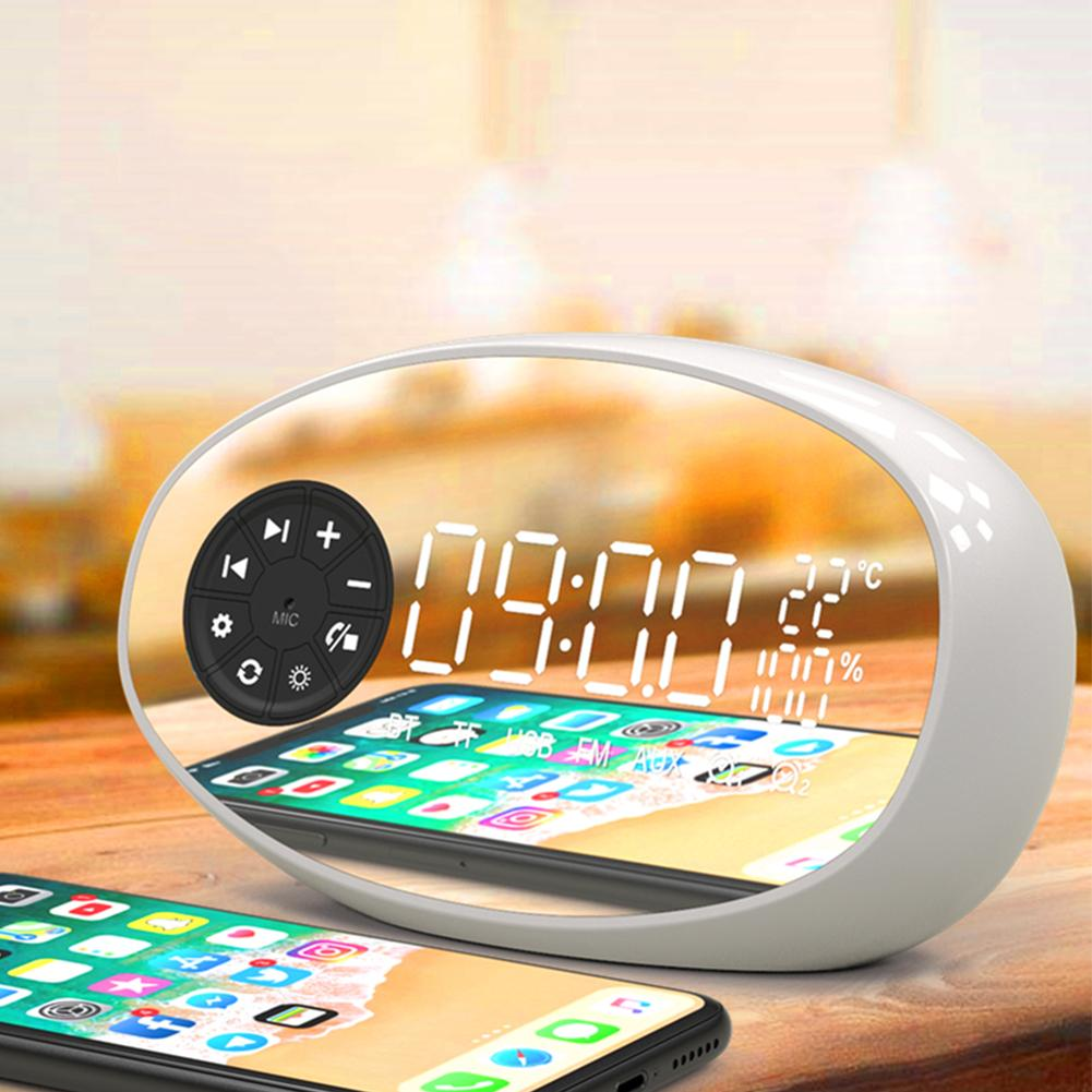 Image 3 - New Multifunctional Bluetooth Speaker Temperature Measurement Radio Electronic Alarm Clock Wireless Subwoofer Small Audio Device-in Portable Speakers from Consumer Electronics