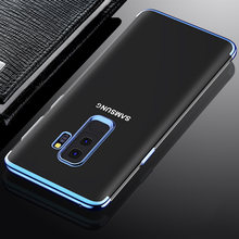 Phone Cases For Samsung Galaxy A30 A50 A10 A40 A20 A70 M10 M20 M30 Case Plating TPU Soft Silicone Armor Transparent Back Cover(China)