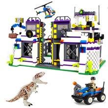 826PCS Jurassic World  Marvel Super Hero Sermoido Dinosaur Building Blocks Educational Bricks Toys For Children