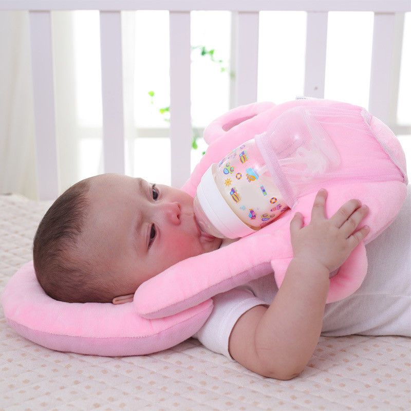 Washable Useful Anti Roll Prevent Flat Head Support Neck Memory Foam Newborn Infant Baby Nursing Solid Color Pillow Functional