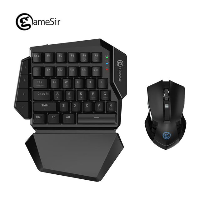 [NEW] GameSir Z2 E-sports Gaming Wireless Keypad And GM180 Mouse Combo 2.4GHz One-handed Blue Switch Keyboard For FPS pubg games