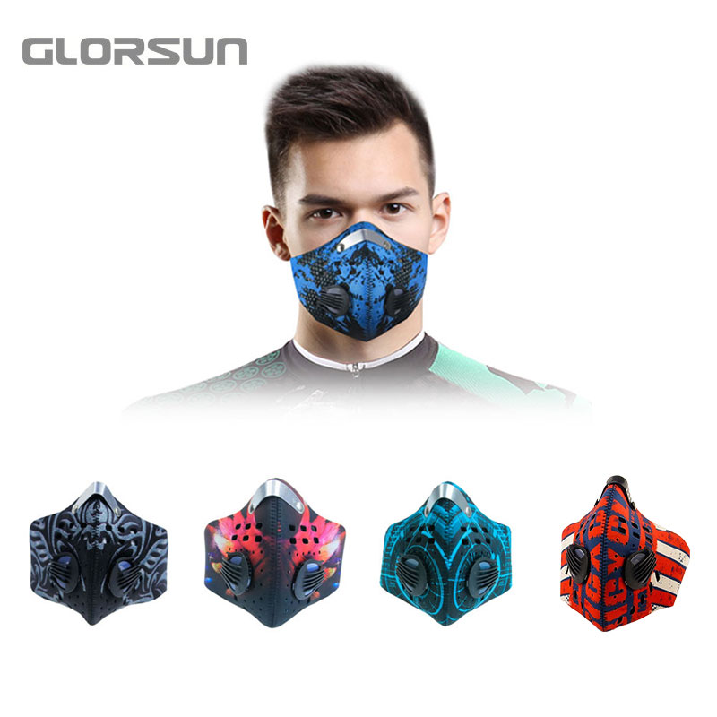 Glorsun Pm2.5 Cycling Dusk Antipollution Mask Filter Fashion Antipollution Mask N99 Pm2.5 Mouth Anti Pollution Sport Dust Mask Aromatic Character And Agreeable Taste Masks