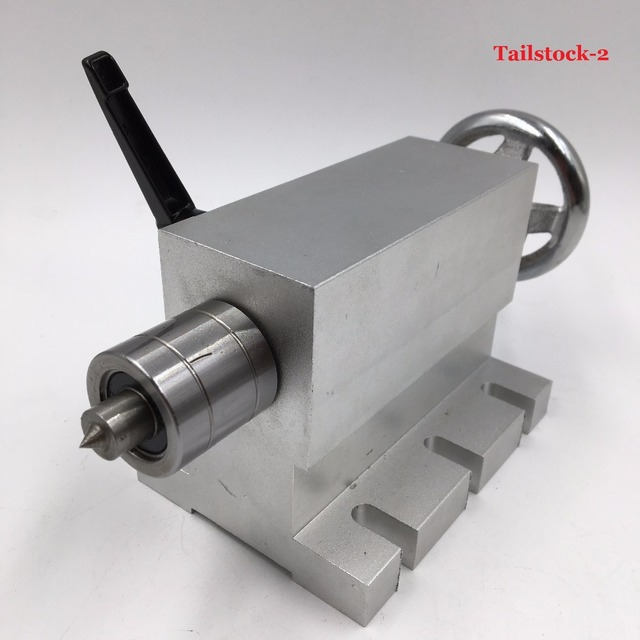 4th A axis MT2 Morse Taper NO.2 Tailstock Shaft Tail Stock for CNC Rotary Axis  Rotational Axis Table Router
