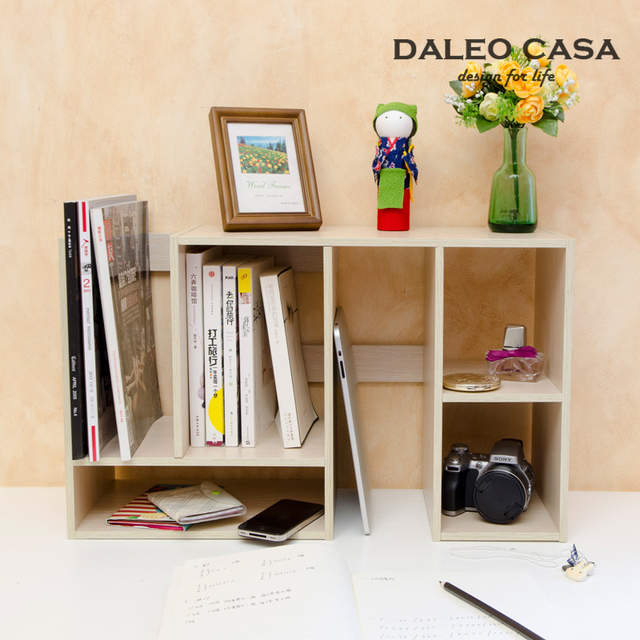 Variety Desktop Sliding Shelf With Pumping Small Bookshelf Table Large  Capacity Storage Rack Shelving Creative Design
