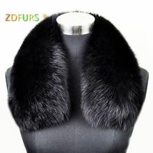 ZDFURS* Женская одежда Аксессуары для воротника модные меховые шарфы из натурального Лисьего меха воротник квадратный ZDC-163007