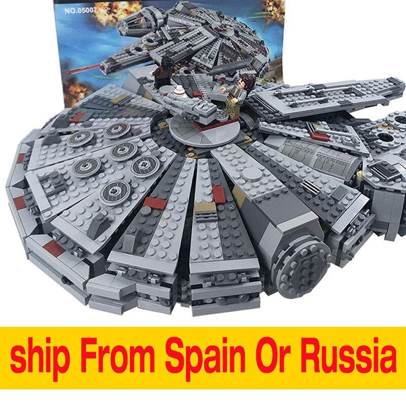 Lepin 05007 Force Éveille Millennium Falcon blocs de construction Compatible En Étoiles Wars 75105 Enfants Embarqués Dans Les 2 Jours