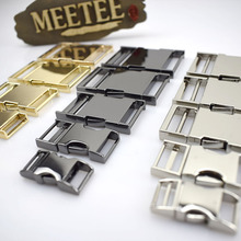 1pc Meetee 14/19/25/32/38mm Metal Bag Strap Quick Side Release Buckle Dog Collar Webbing Belt Clip Clasp Parts Leather Craft