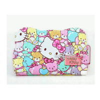 Free shipping Cartoon wallet kawaii bag coin high quality PU hello kitty red wallet for lady Anti scraping and waterproof