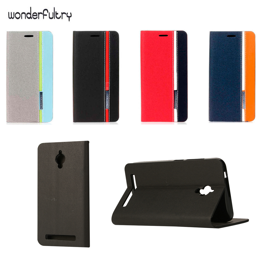 Asus Zc500tg Case Assorted Color Linen Pu Leather Card Holder